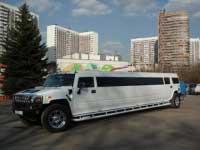 Джип лимузин Хаммер белый для свадебного кортежа
